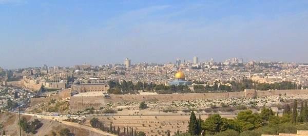 Pogled na stari grad Jerusalim sa Maslinove Gore