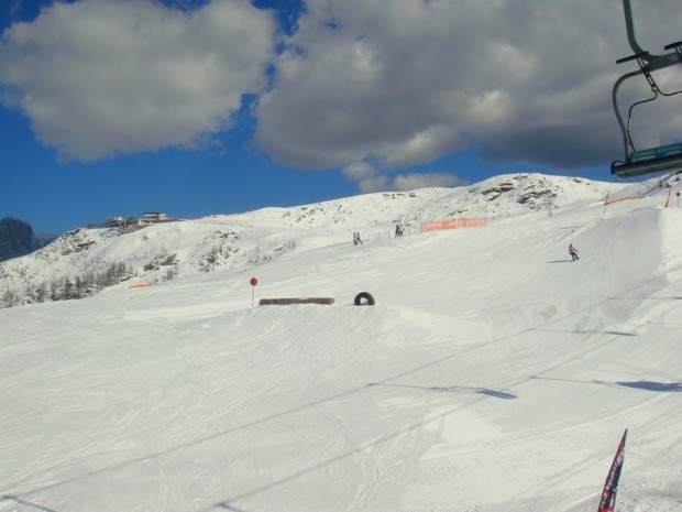 Snow park, San Martino di Castrozza, regija Trento, Dolomiti