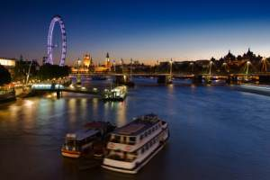 London - London Eye and Westminster Palace
