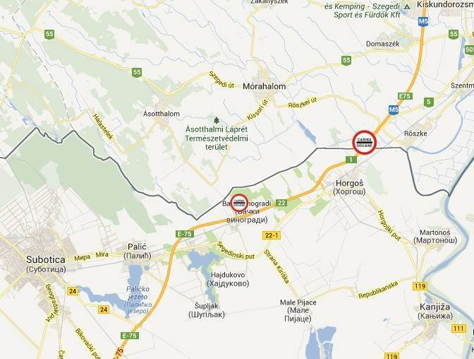 """karta srbije sa granicnim prelazima Kako stići do novog graničnog prelaza sa Madjarskom   """"Bački  karta srbije sa granicnim prelazima"""
