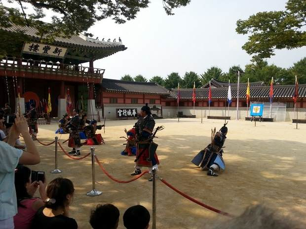 UNESCO World Cultural Heritage Hwaseong Fortress entrence show