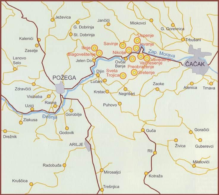 Ovcarsko-kablarski_manastiri_(karta)